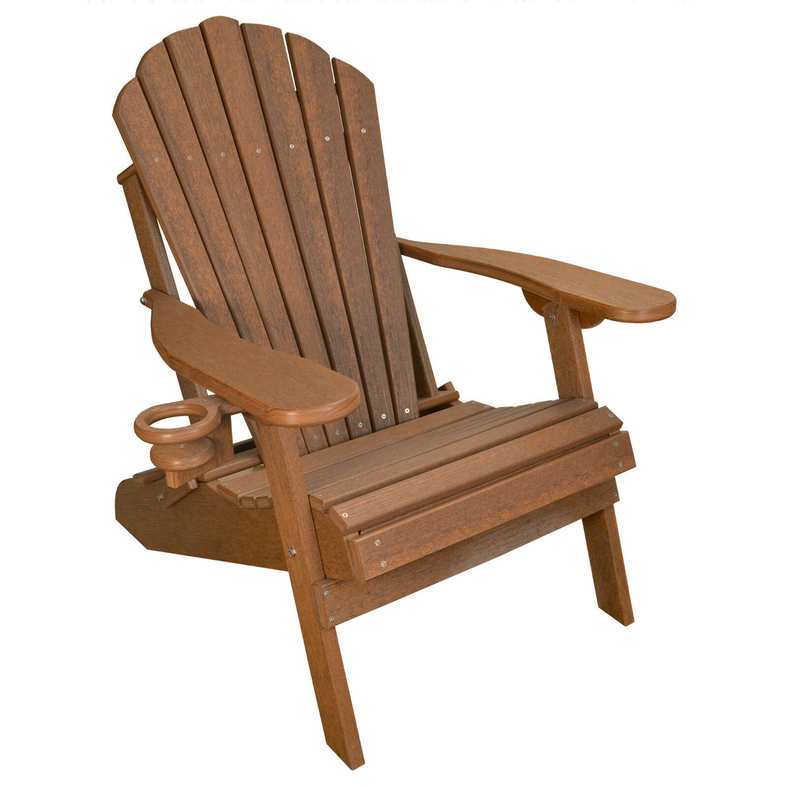 Deluxe Outer Banks Poly Wood Grain Folding Adirondack Chair