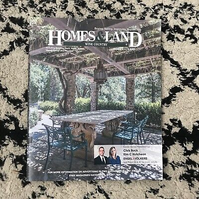 Homes & Land Magazine Wine Country Sonoma and Napa Real Estate Volume 34 Issue 8 ()