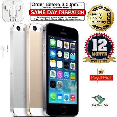 APPLE iPHONE 5S VARIOUS COLOUR VAROUS GRADE SMARTPHONE +12 MONTHS WARRANTY