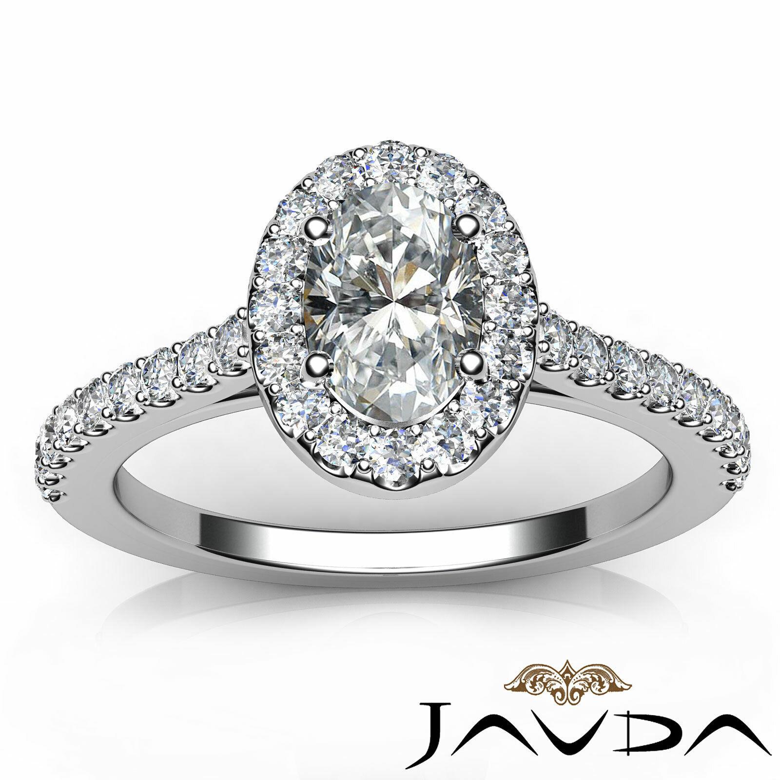 1.6ctw Prong Setting Oval Diamond Engagement Ring GIA H-VS1 White Gold Women New 3