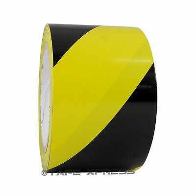 Black Yellow 3 X 36 Yd Vinyl Floor Marking Safety Warning Tape Pvc 6 Mil