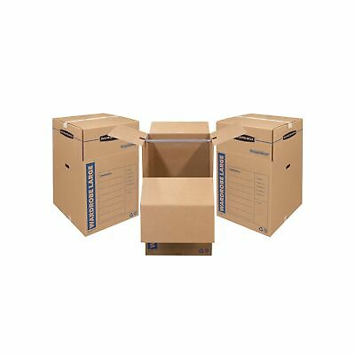 Bankers Box Smoothmove Wardrobe Moving Boxes Tall 24 X 24 X 40 Inches 3 Pa...