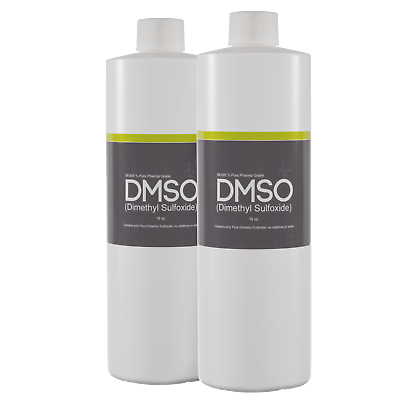 Two 16oz Low Odor, Liquid DMSO Pure Pharma Grade 99.995% BPA