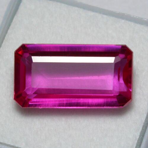 Certified 14.00Ct Natural Utah Bixbite Unheated Red Beryl Loose Gemstone 18x10mm