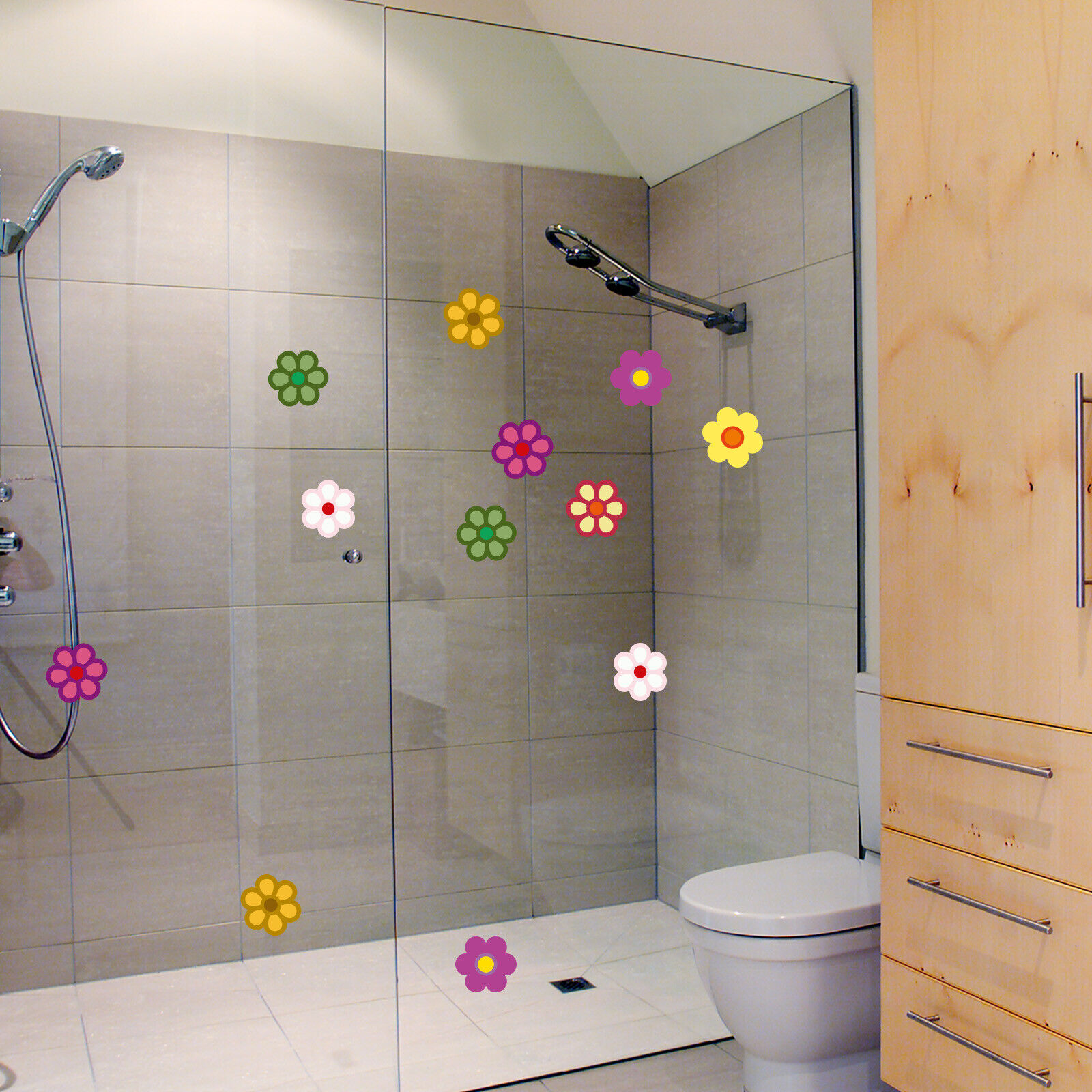 Home Decoration - SET OF FLOWERS Sticker Vinyl Waterproof Decal Bathroom/Home/Car/Furniture Decor