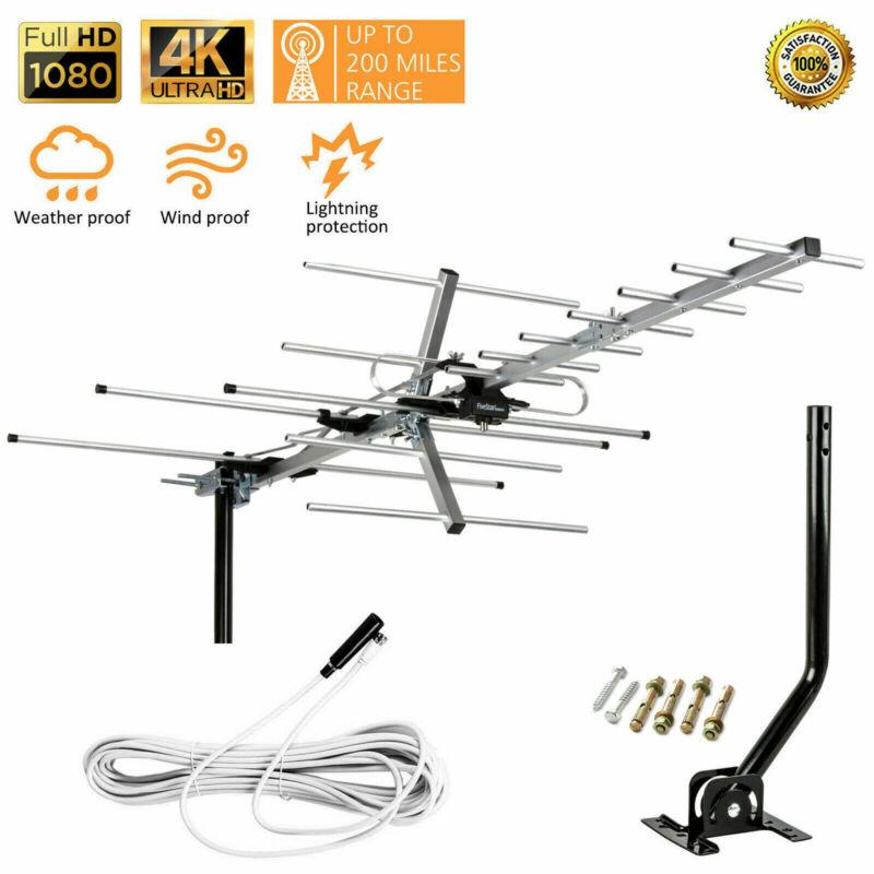 Yagi HD TV Outdoor Antenna up to 200 Mile Range, Attic or Roof Mount TV Antenna