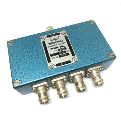 3-200Mhz X4 Hybrid Unit Power Splitter Combiner Hatfield 3156