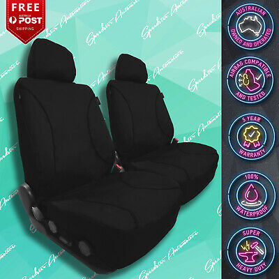 FOR GREAT WALL V200 STRONG CANVAS ALL OVER WATERPROOF BLACK CAR FRONT SEAT COVER