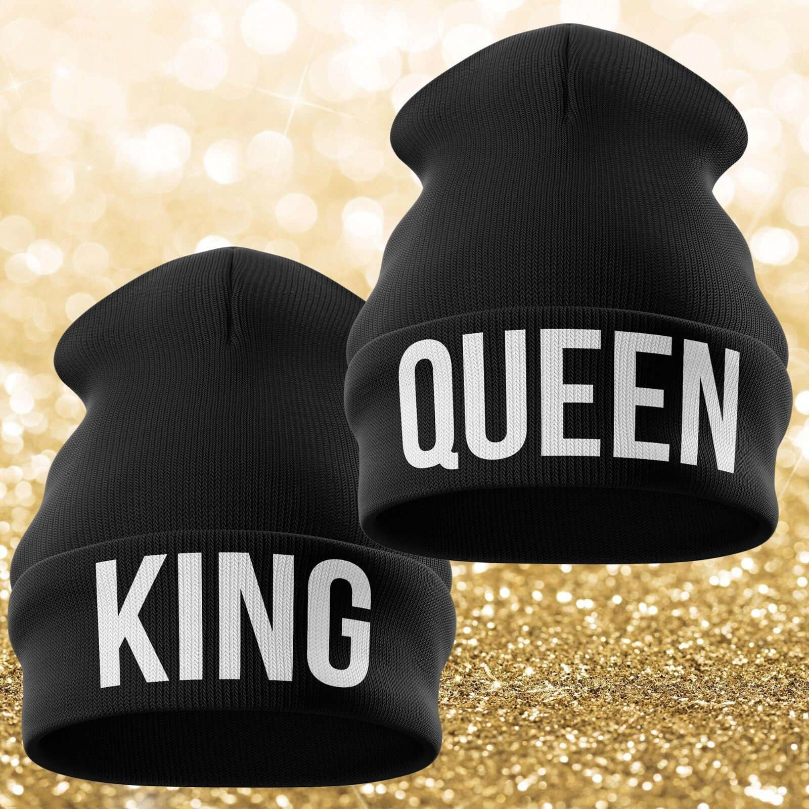 a51716fa6 Details about Family Beanie Hat King Queen Prince Princess Hat Gift Funny  Winter Hats Swag B3