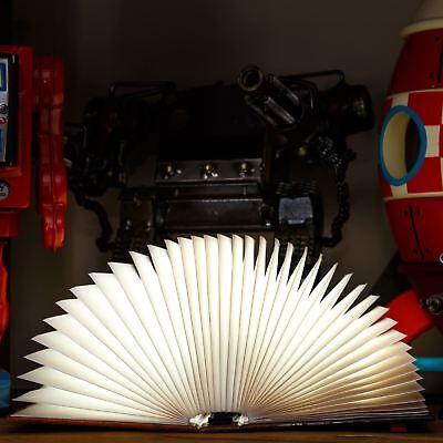 Brillante Libros Noche Luz Batería Accionado Niños Lectura Lámpara Plegable Mesa