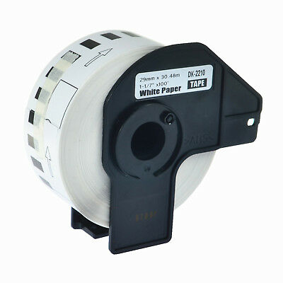 1roll Dk2210 Dk-2210 Continuous Label Wframe For Brother Ql-1060n 1050n Printer