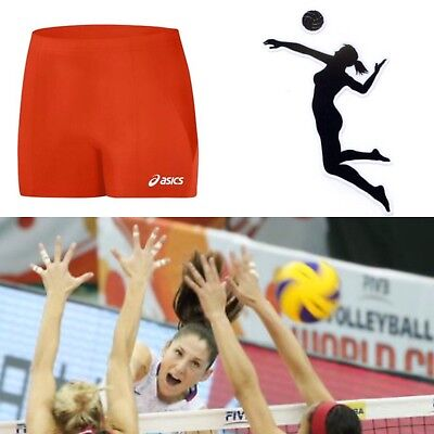 Asics Volleyball Spandex (🏐Asics Baseline Women's Spandex Volleyball Shorts Orange 🏐Size XS)