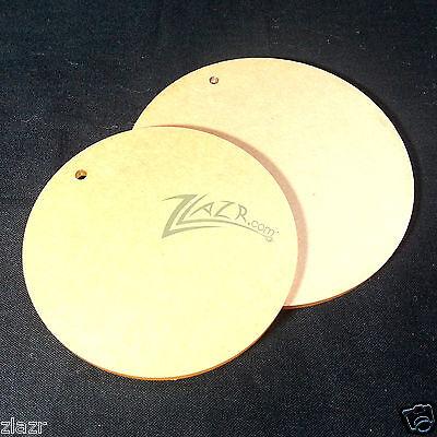 "100 1.25"" & 1.375"" x 1/32"" COMBO Acrylic Circle Disc Plexiglass 1 Keychain hole"