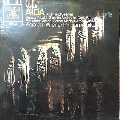 Verdi - Karajan Tebaldi Simionato Bergonzi - Aida - Decca- Vinyl LP F15