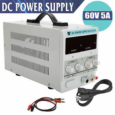60v 5a Digital Dc Power Supply Variable Adjustable Lab Bench Test Equipment Tool