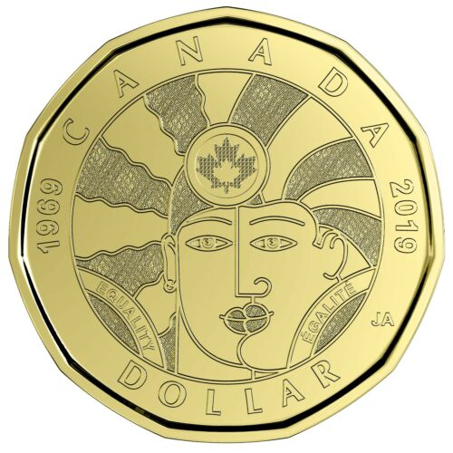 CANADA 2019 New $1 LOONIE EQUALITY 1969-2019 (UNC Directly from mint roll)