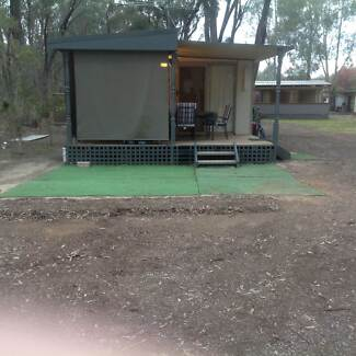 """On site Van and Annex """"Best River Views in the Park""""- Echuca VIC Echuca Campaspe Area Preview"""
