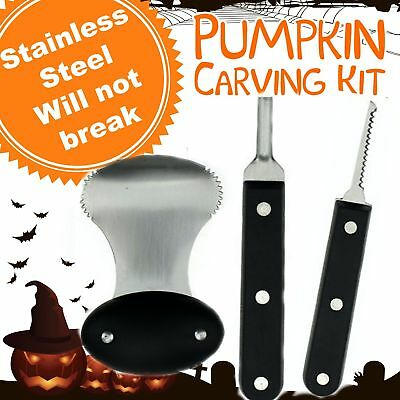 Pumpkin Carving Kit - Pro Level Stainless Steel Pumpkin Carving Kit Tools Set - Halloween Pumpkin Carving Set