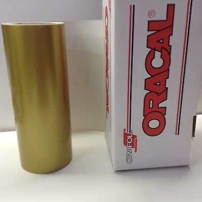 """Oracal 651, 1 Roll 12"""" x 10 ft.Gold #091 Vinyl for Craft,Sign,Cutter"""