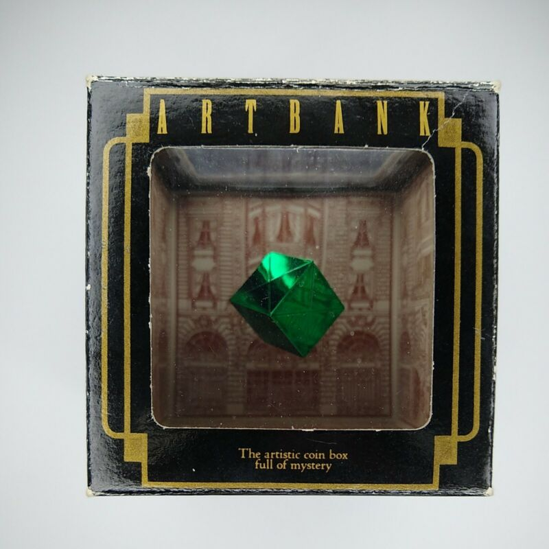 1989 Tenyo Art Bank Disappearing Coin Green Cube Floating Magic