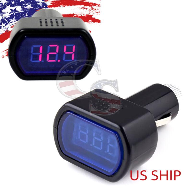 New LCD Cigarette Lighter Voltage Digital Panel Meter Voltmeter Monitor Auto Car