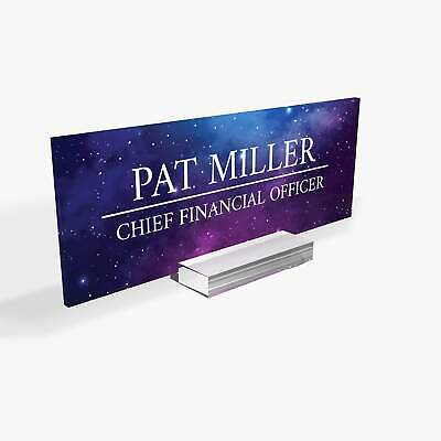 Executive Personalised Desk Name Plate Custom Engraved Sign Office Plaque Ga