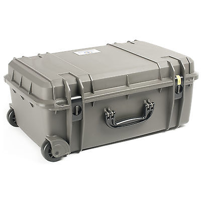 Seahorse Se920 Watertight Rolling Protective Equipment Case With Foam  Gun Metal