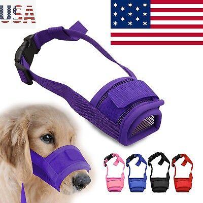 Dog Muzzle Training Muzzle - Dog Muzzle Anti Stop Bite Barking Chewing Mesh Mask Training Small Large S-XL US