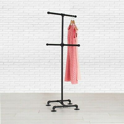 Industrial Pipe 4-way Clothing Rack By William Roberts Vintage