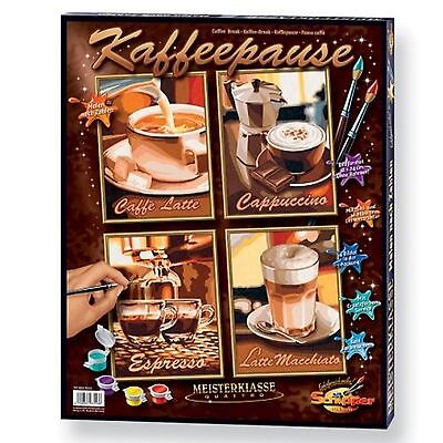 KAFFEEPAUSE 609340553 Kaffee Malen nach Zahlen Schipper Quattro Kaffeebohnen