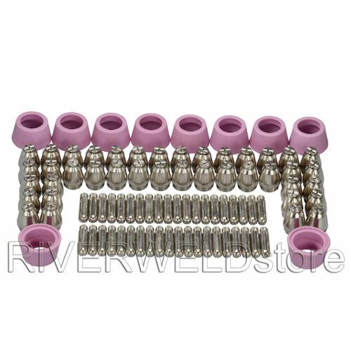SG55 AG60 Plasma Electrode Tip Nozzle Consumable & 40/50/60A CUT LGK 50/60 90pcs