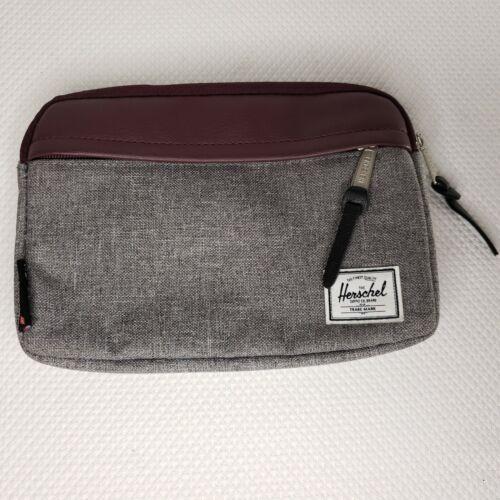 Herschel Virgin Atlantic Travel Cosmetic Dop Toiletry Bag Gray Brown