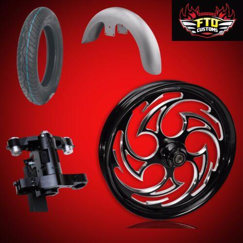 "Harley 30 Inch Front End Big Wheel Kit, Wheel, Tire, Neck, Fender, "" Predator"""