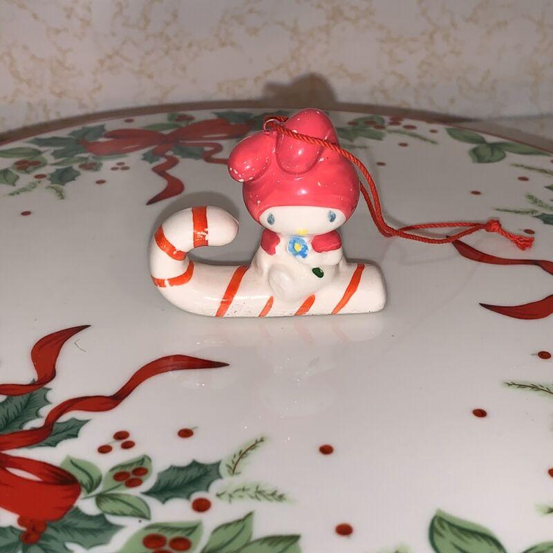 SANRIO MY MELODY XMAS CHRISTMAS TREE ORNAMENT CANDY CANE HOLIDAY RARE CHARM PINK