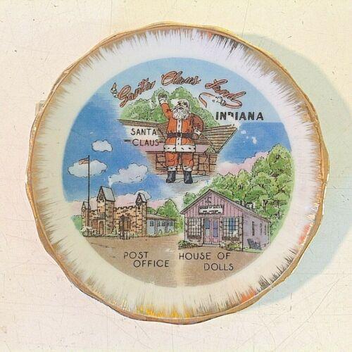 Vintage Miniature Souvenir Plate Santa Claus Land Indiana House of Dolls PO View