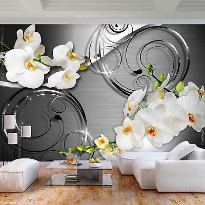 VLIES FOTOTAPETE Blumen Orchidee Abstrakt 3D TAPETE Wohnzimmer WANDBILDER XXL