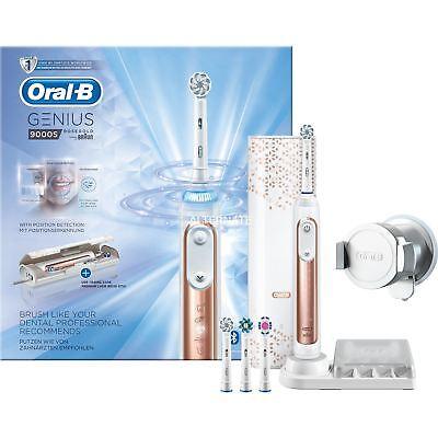 Braun Oral-B Genius 9000S Electric Toothbrush USB Charging Travel Case Rose Gold