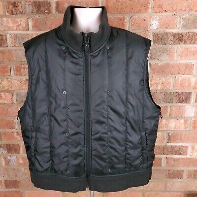Ralph Lauren Polo 67 Black Quilted Men's Vest Size XL Full Zip