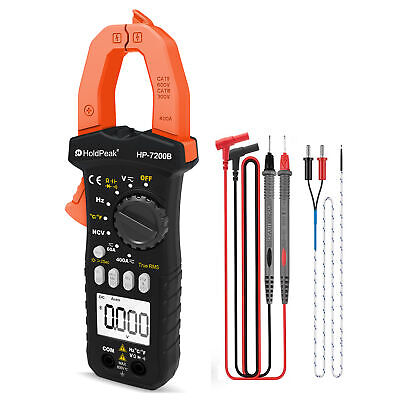 Holdpeak Digital Clamp Multimeter Temperature Tester 6000 Counts Dc Current