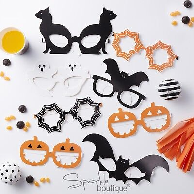 Alternative Halloween Party (HALLOWEEN GLASSES x8 -Photo Booth Props/Party Disguises-Selfie- Mask)
