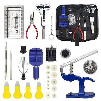 915PCS Watch Repair Tool Kit Case Opener,Spring Bar Tool,Case Press+12 Dies US
