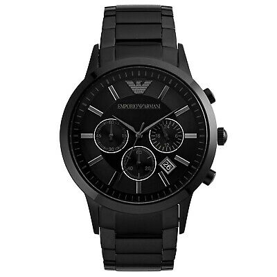 Emporio Armani AR2453 Mens Chronograph Watch - Black
