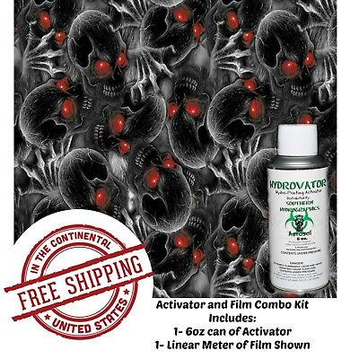 Hydrographic Film Water Transfer Hydro Dip 6oz. Activator Red Eye Creeper Kit
