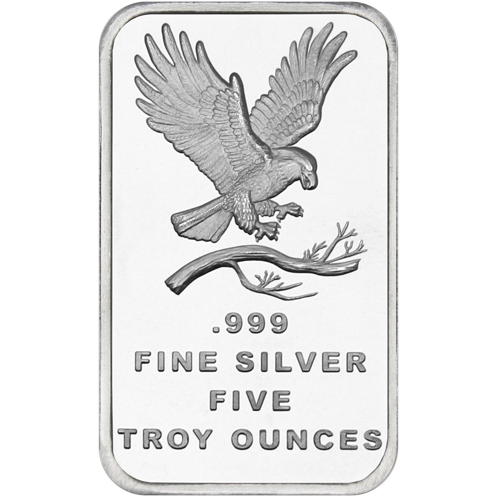 SilverTowne Trademark Eagle 5oz .999 Fine Silver Bar