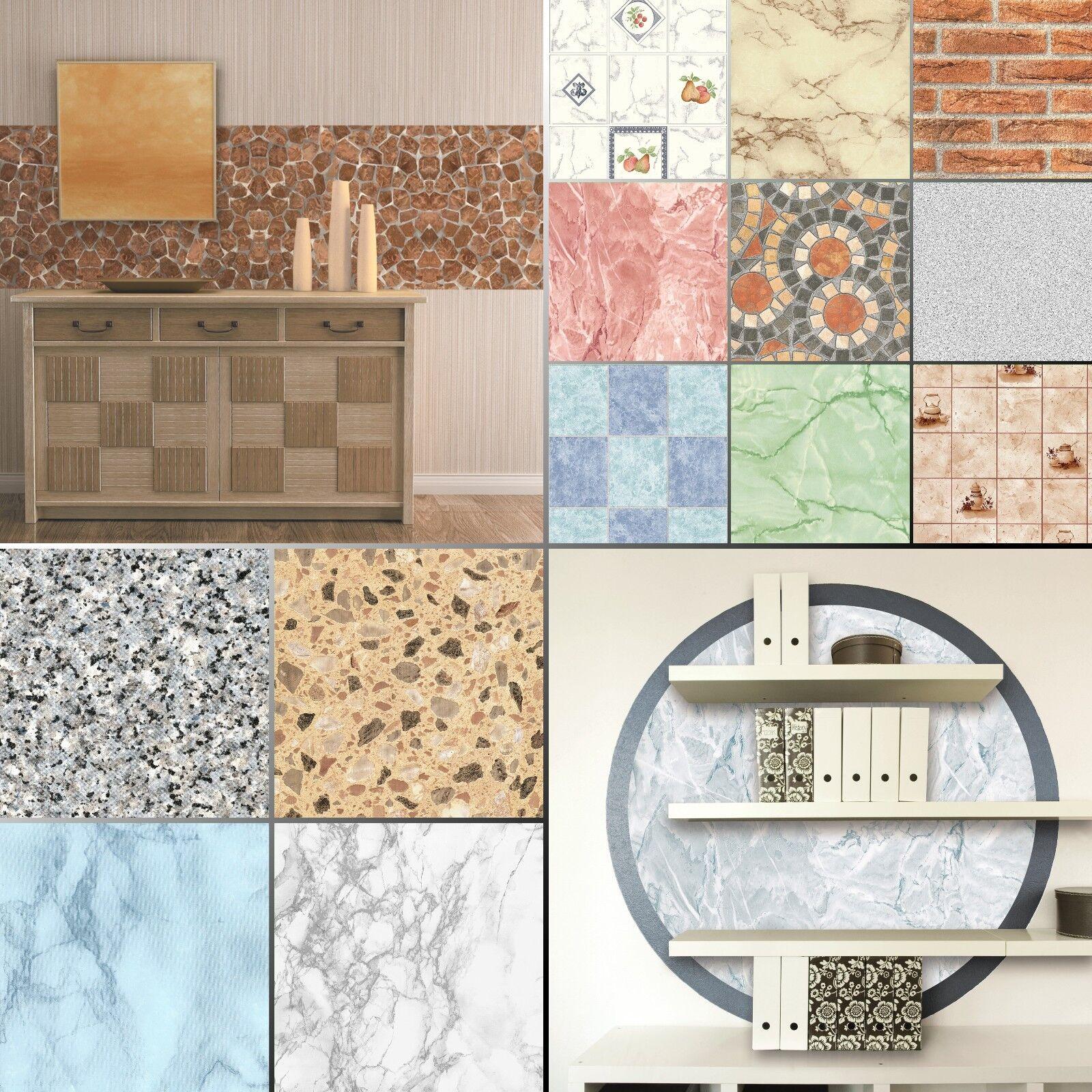 10€/m² Selbstklebefolie Küche Marmor Granit Kacheln Mauer Fliesen Klebefolie Tür