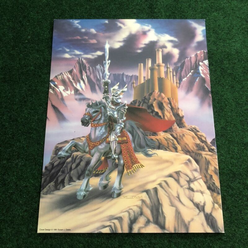 Vintage Unused Susan Sue Dawe Unicorn Folder Mead Fantasy 1990s