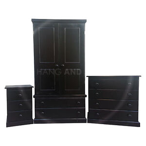 Handmade furniture cambridge bedroom set blackassembled for Bedroom furniture sets assembled
