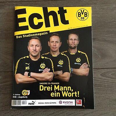 BVB*BORUSSIA DORTMUND*Stadionmagazin ECHT*Heft Nr. 139*BVB-Augsburg*Co-Trainer gebraucht kaufen  Bottrop