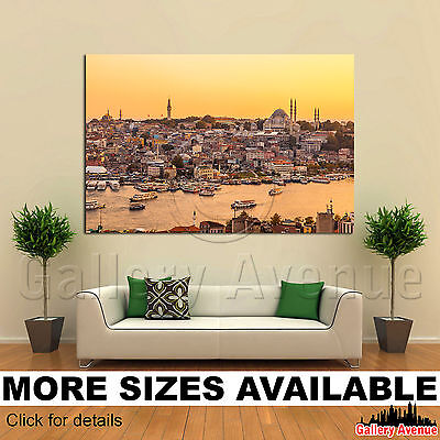 A Wall Art Canvas Picture Print - Istanbul Turkey Golden Horn bay 3.2