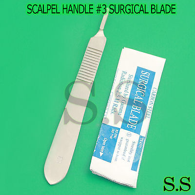 1 Scalpel Knife Handle 3 20 Sterile Surgical Blade 12